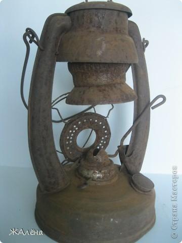 Вот такую красивую,старую,но очень ржавую лампу мне подарили... фото 2