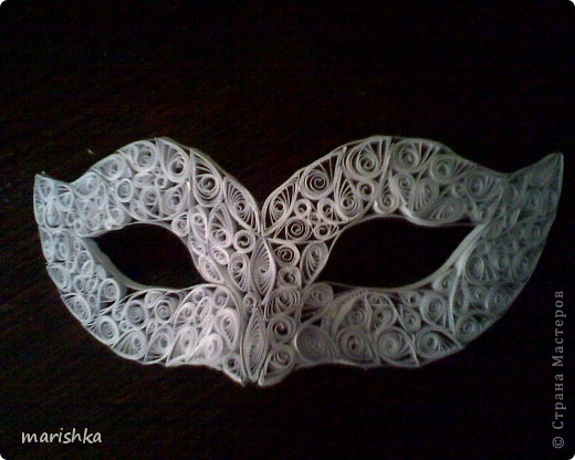 Моя первая карнавальная маска.
