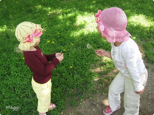 Желтенькая панамочка для младшенькой доченьки.  фото 7