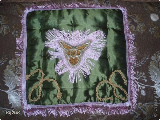 вот так я изменила, украсила  подушку  для Кетти фото 1