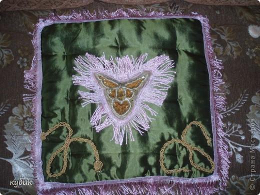 вот так я изменила, украсила  подушку  для Кетти фото 3