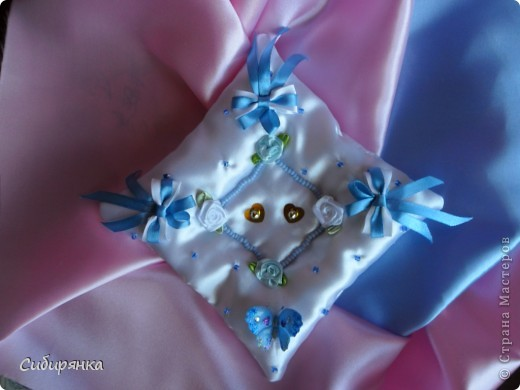 Подушечки для свадебных колец. фото 1