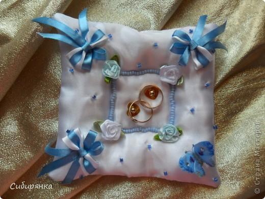 Подушечки для свадебных колец. фото 3