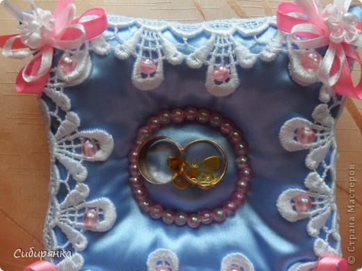 Подушечки для свадебных колец. фото 4