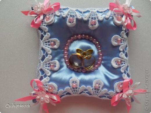 Подушечки для свадебных колец. фото 6