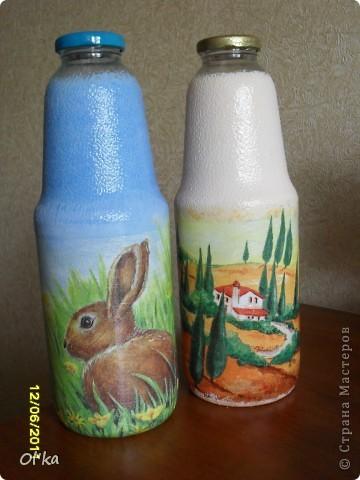 Вот такие бутылочки под молоко и не только у меня получились.