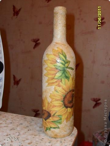 Подарочная бутылка. (Декупаж на манке). фото 3