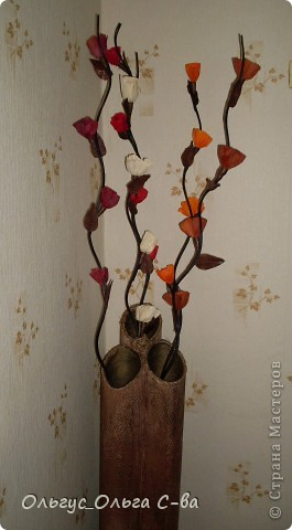 Моя проба изготовления вазы по МК Наташи Радуги http://stranamasterov.ru/node/150206?c=favorite фото 2