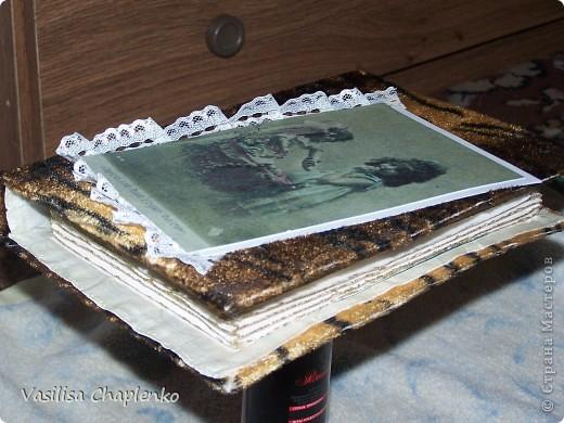 Сегодня просто день законченных работ :0))) Вот еще одна книга-шкатулка. Это обложка... фото 2