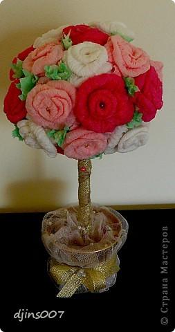 Сделала подружке свадебное дерево. Надеюсь это дерево поможет ей выйти замуж побыстрей))))
