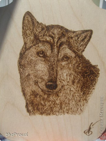"""""""Волк"""". Выжигание (Рисунок мой)  фото 3"""