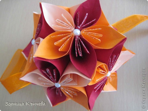 Цветы  заготовки+кусудама фото 4