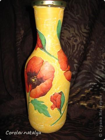 Вот такую бутылку-вазу я делала в прошлом году. фото 1