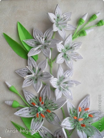 Лилии по МК Пылинки. фото 3