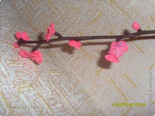 Это моя проба,хочу сделать дерево сакуру (объёмную). Начала эксперимент с дешевого материала( Детское тесто для лепки).   фото 5