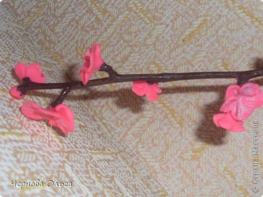 Это моя проба,хочу сделать дерево сакуру (объёмную). Начала эксперимент с дешевого материала( Детское тесто для лепки).   фото 2