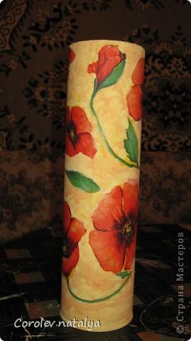 Вот такую бутылку-вазу я делала в прошлом году. фото 2