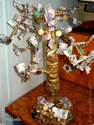 Вот такое денежное деревце в подарок братишке получилось)) фото 1