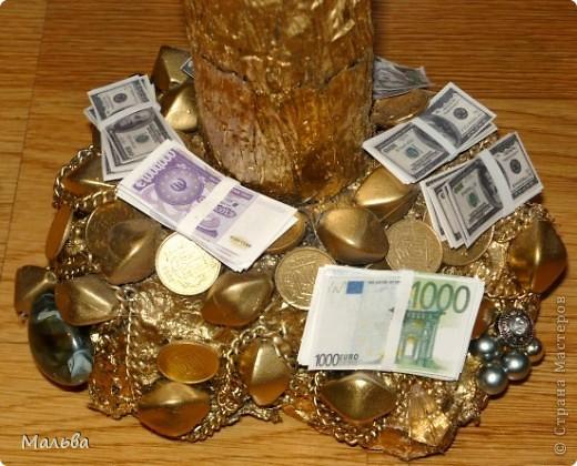 Вот такое денежное деревце в подарок братишке получилось)) фото 2