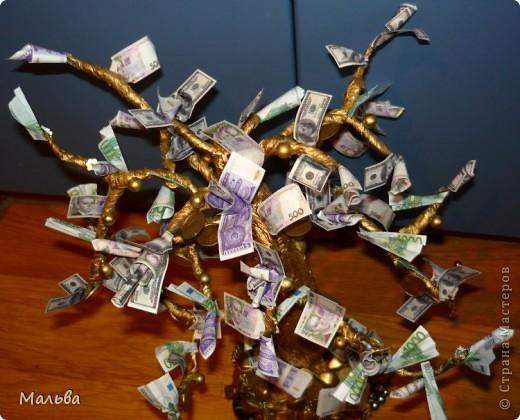 Вот такое денежное деревце в подарок братишке получилось)) фото 3
