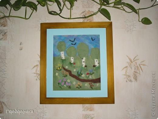 Картина валяная из шерсти мокрым способом фото 1