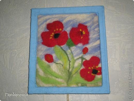 Картина из гребенной ленты выполнена мокрым способом фото 1