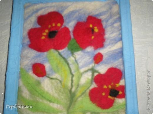 Картина из гребенной ленты выполнена мокрым способом фото 2