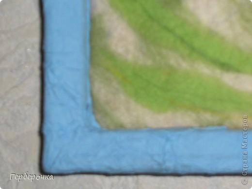 Картина из гребенной ленты выполнена мокрым способом фото 3
