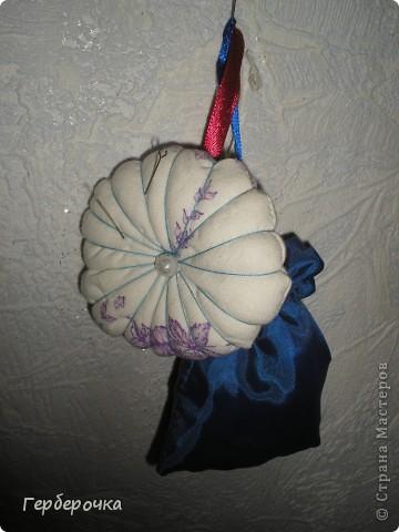 Игольница тыковка,сшита из х/б ткани. фото 1