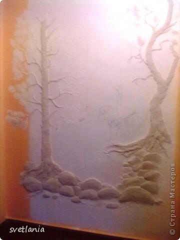 моя работа над барельефом на стене фото 2