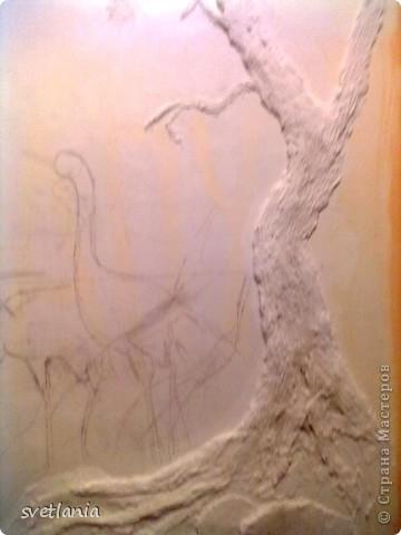 моя работа над барельефом на стене фото 4