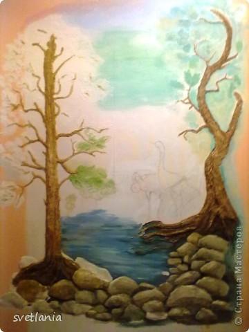 моя работа над барельефом на стене фото 7