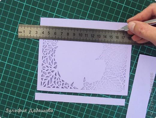 Мастер-класс снят специально для интернет-магазина Read.ru.   Понадобится бумага для пастели розового и сиреневого оттенков, плотностью   130-160 гр/м2. Распечатать шаблон на офисной бумаге. Шаблон рассчитан на формат А4.  Размеры открытки  по шаблону 10,5х15 см в сложенном виде  фото 8
