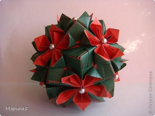 Кусудама Double flower. Автор Мария Синайская. фото 2