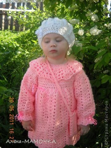 Платьеце и беретик для дочурки