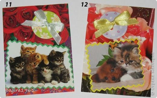 Было такое настроение: что-нибудь повырезать - взяла и изрезала все старые поздравительные открытки... Потом обнаружила старый календарь с котятами, тоже изрезала... Ну, и в итоге, вот что получилось... Цветочно-котёнковое настроение...  № 1 - Поллианна № 2 - werunka № 3 - Катя За № 4 - olhga фото 4