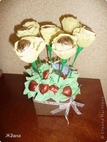 """Букет из конфет""""Желтые розы"""" фото 1"""