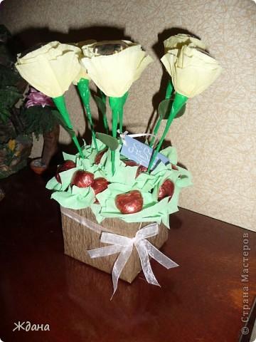 """Букет из конфет""""Желтые розы"""" фото 5"""