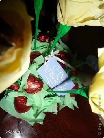 """Букет из конфет""""Желтые розы"""" фото 3"""