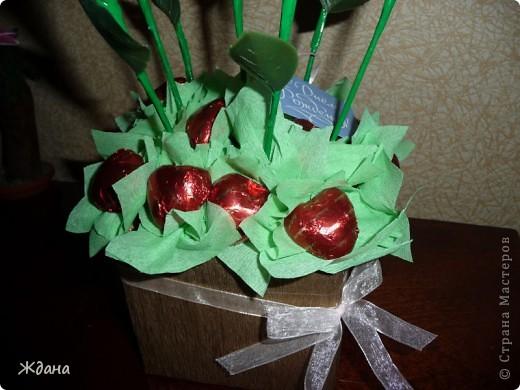 """Букет из конфет""""Желтые розы"""" фото 2"""