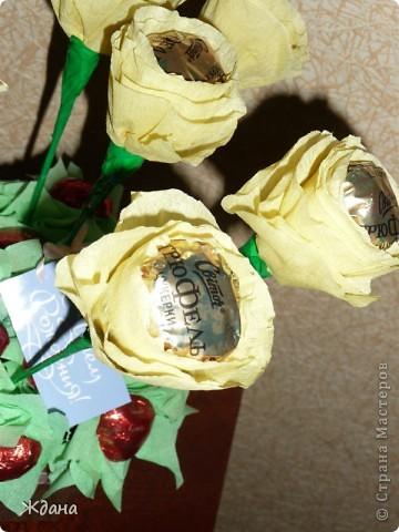 """Букет из конфет""""Желтые розы"""" фото 4"""