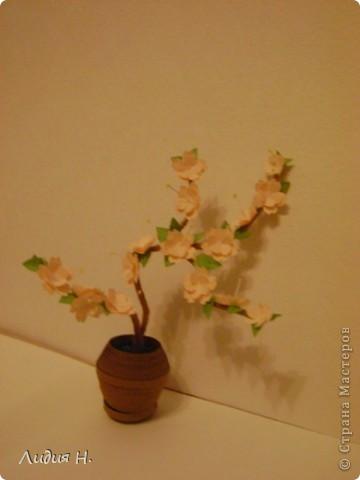 Видела много работ с цветущими яблонями, вишнями, захотелось тоже сделать что-нибудь подобное.  фото 4