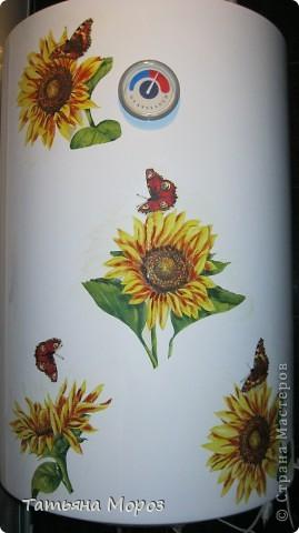 Не знаю, к ак у Вас, а у нас, на Украине цветут .... холодильники!!!!! Такой он был БЕЛЫЙ.... аж противно... и вот, решил зацвести подсолнухами... фото 6