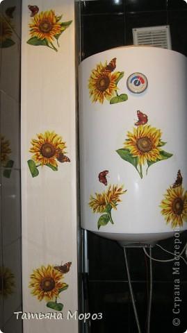 Не знаю, к ак у Вас, а у нас, на Украине цветут .... холодильники!!!!! Такой он был БЕЛЫЙ.... аж противно... и вот, решил зацвести подсолнухами... фото 7