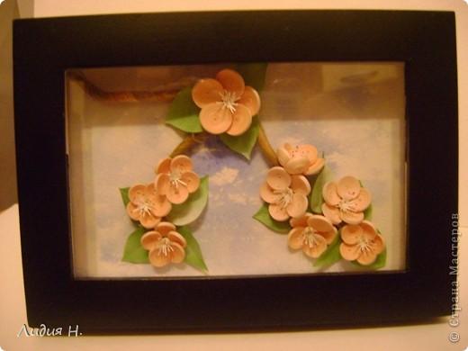 Видела много работ с цветущими яблонями, вишнями, захотелось тоже сделать что-нибудь подобное.  фото 3