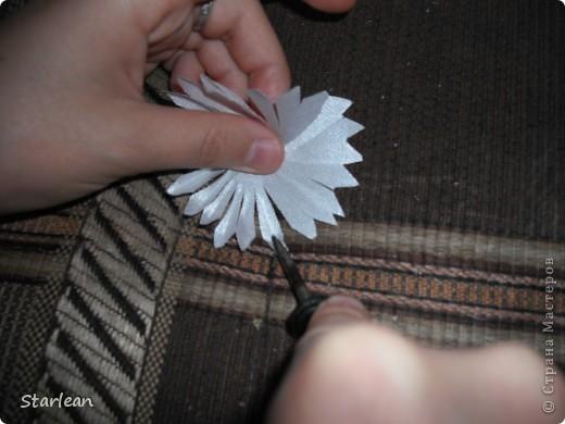 нам понадобится: -ткань креп-сатин, предварительно нажелатиненная - тонкие отвертки - ватные палочки  фото 4