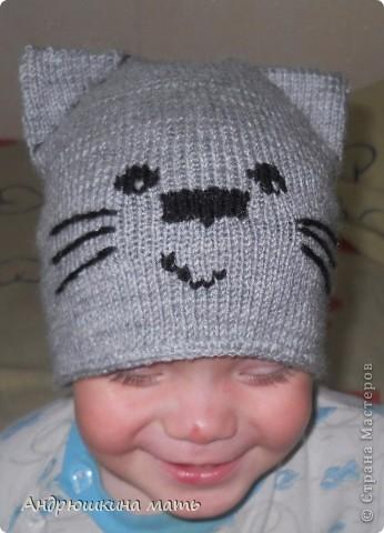 Шапка-котенок фото 1