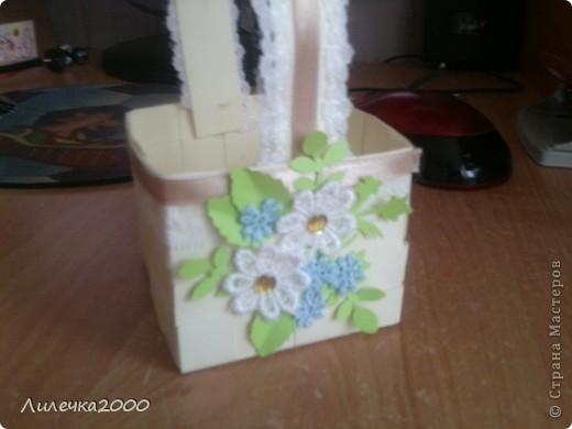 Эту корзинку я делала ещё до Пасхи. Извините за качество фотографий. фото 1