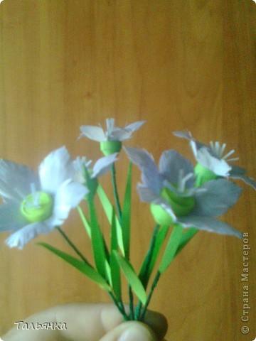 """Эти цветы - часть моей будущей композиции, скоро выложу, а пока... Оцените, пожалуйста. Дорогие мастерицы, может кто-то знает название этих цветов (а может непохоже?), делала, так сказать, с """"натуры"""". фото 6"""