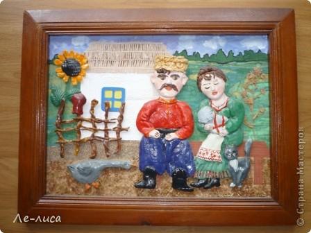 На Кубани празднуют не только День Матери, но и День Матери-Казачки. Поэтому все картины про кубанских казачек. Размеры всех коллажей в рамках из тряпичных косичек по внутреннему краю- 20х30 см.(-+ 1-2 см) фото 7